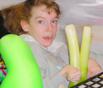 A pupil counting leeks